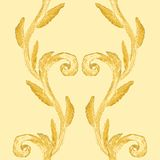 Seamless pattern with brush painted branches Royalty Free Stock Images