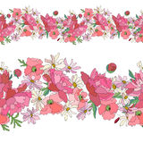 Seamless pattern brush with stylized bright summer Royalty Free Stock Image