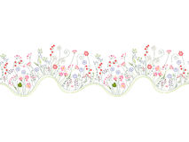 Seamless pattern brush with stylized summer Stock Images