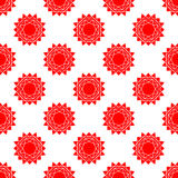 Seamless pattern with bstract sun. . flat Royalty Free Stock Images