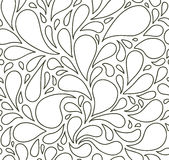 Seamless pattern with bubbles or drops. Black and white. Background. Royalty Free Stock Photos