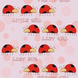 Seamless pattern with bugs for pretty girls Royalty Free Stock Images