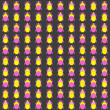 Seamless pattern with bugs Stock Image