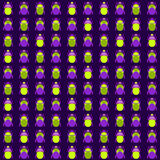 Seamless pattern with bugs Stock Photos