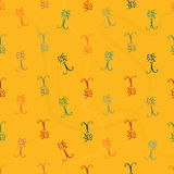 Seamless pattern with bugs and traces. Seamless pattern with sketchy bugs and traces Royalty Free Stock Photos