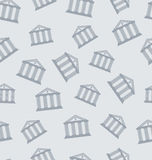 Seamless Pattern with Building of Bank Royalty Free Stock Photo
