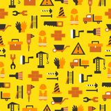 Seamless pattern with building equipment Stock Photos