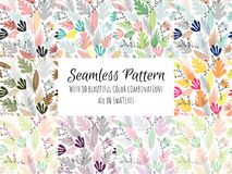 Seamless pattern is built from a palette of deliberately imperfect and abstract shapes based on organic forms vector illustration