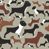 Seamless pattern with bulldogs Royalty Free Stock Photo