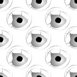 Seamless pattern with bullet holes Royalty Free Stock Image
