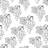 Grapes Pictograms Seamless Royalty Free Stock Photography