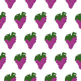 Seamless pattern with bunch of grapes Royalty Free Stock Photos