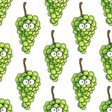 Seamless pattern of bunches of green grapes Royalty Free Stock Photo