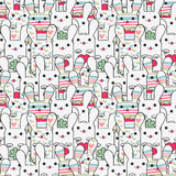 Seamless pattern with bunnies. Cute seamless pattern with bunnies stock illustration