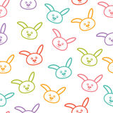 Seamless pattern with bunnies. Seamless vector pattern with colorful bunnies Royalty Free Stock Photo