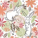 Seamless pattern, bunny Stock Photography