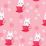 Seamless pattern with bunny Royalty Free Stock Photos