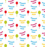 Seamless Pattern with Bunting Party Flags for Your Designs Royalty Free Stock Photography