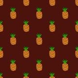 Seamless pattern burgundy background pineapple Royalty Free Stock Image