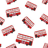 Seamless Pattern with Bus Royalty Free Stock Photography