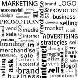 Seamless pattern of business concepts. Sales and Marketing Royalty Free Stock Image