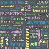 Seamless pattern of business concepts. Sales and Marketing Stock Images