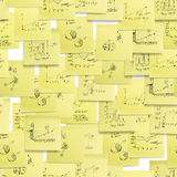 Seamless pattern: business, finance. Stock Images