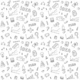 Seamless pattern of  business and finance hand. Drawn infographic design elements. Doodle vector set Stock Photos
