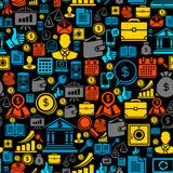 Seamless pattern of the business icons.  Stock Photography