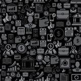 Seamless pattern of the business icons.  Royalty Free Stock Photography