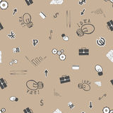 Seamless pattern business Royalty Free Stock Photography