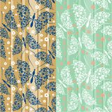 Seamless pattern with butterflies Royalty Free Stock Photos