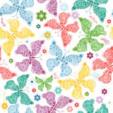 Seamless pattern with butterflies stock illustration