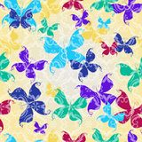 Seamless pattern with butterflies Royalty Free Stock Photo