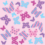 Seamless pattern with butterflies. Seamless pattern with graphic colored butterflies Royalty Free Stock Photography