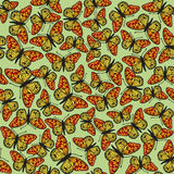 Seamless pattern from butterflies Royalty Free Stock Photography