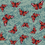 Seamless pattern from butterflies Stock Image