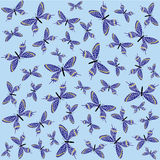 Seamless pattern from butterflies Royalty Free Stock Image
