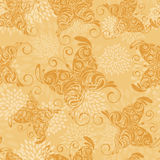 Seamless pattern with butterflies and abstra Stock Photo