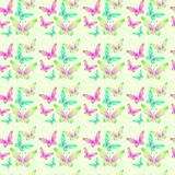 Seamless pattern with butterflies. Seamless background with bright colorful butterflies Stock Photos