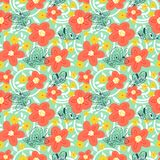 Seamless pattern with butterflies. Background with flying beauti. Ful butterfy and flowers. Vector illustration for spring or summer backdrops, fabric and Vector Illustration