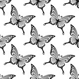 Seamless pattern of butterflies Stock Photography