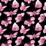 Seamless Pattern with Butterflies royalty free illustration