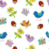 Seamless pattern with butterflies. Royalty Free Stock Photography