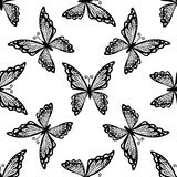 Seamless pattern of butterflies Stock Photography