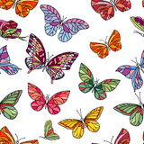 Seamless pattern with butterflies. Royalty Free Stock Image