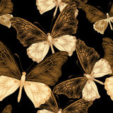 Seamless pattern with butterflies. Stock Photography