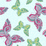 Seamless pattern with butterflies Stock Photo