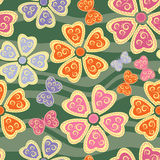Seamless pattern with butterflies and flowers Stock Photos