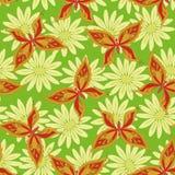 Seamless pattern, butterflies and flowers Stock Photos